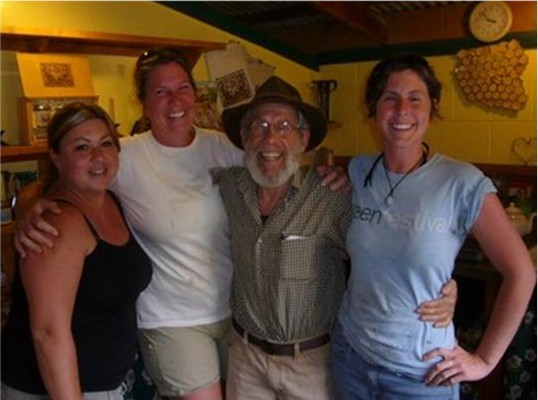 Richard Spiegel of Volcano Island Honey and 3 of his crew