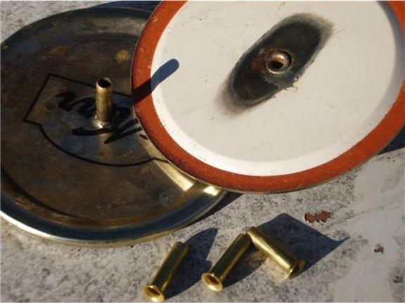 Soldering of brass inserts